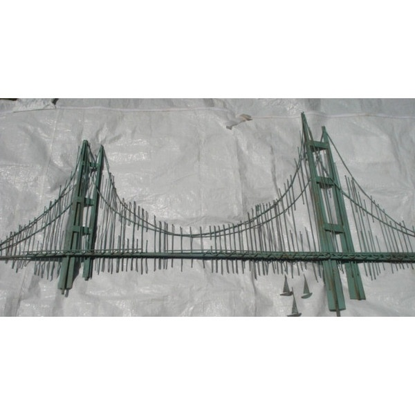 Vintage Curtis Jere Golden Gate Bridge Metal Wall Sculpture 425