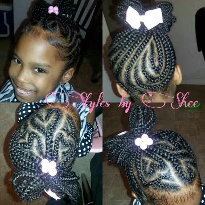 Braided hair black kids