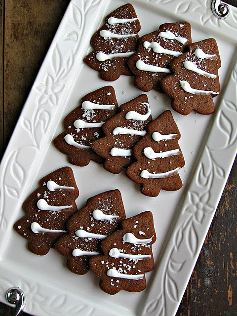 Gingerbread Trees with Lemon Icing | Christmas | Pinterest