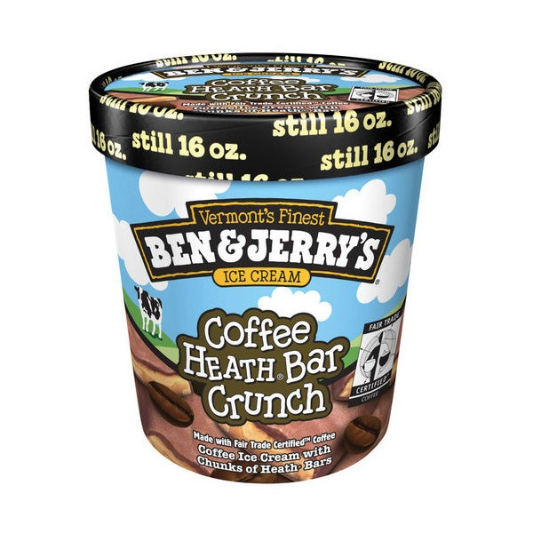 Ben Jerry's Coffee Heath Bar Crunch Ice Cream, 1 pt liked on ...