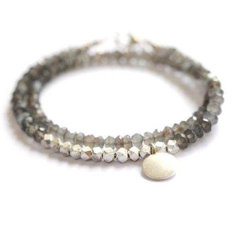 gray moonstone friendship bead bracelet