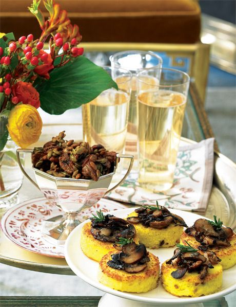 Wild Mushroom–Parmesan Grits Cakes | PARTYTIME!!!! | Pinterest