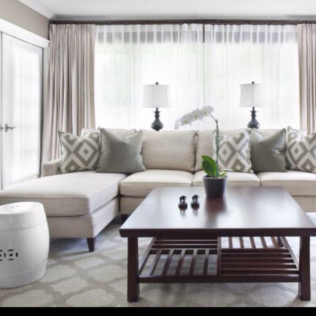 Serene white and gray living rooms pinterest for Serene living room ideas