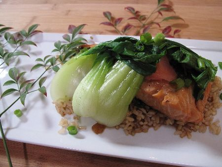 Japanese Poached Salmon - with bok choy | Recipes Made Easy | Pintere ...