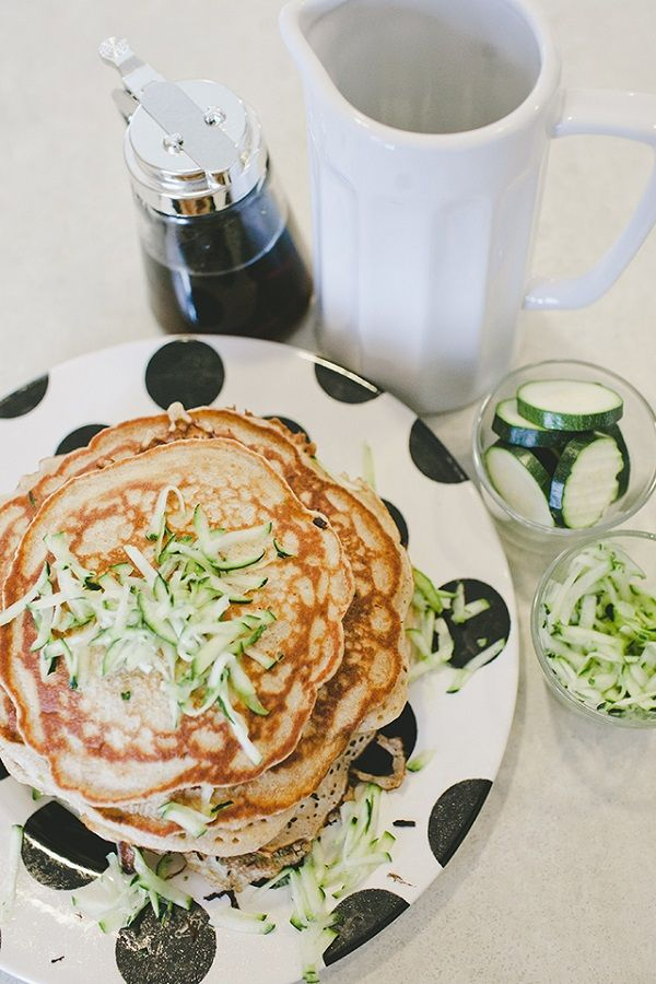 Zucchini bread pancakes | The Art of Breakfast | Pinterest
