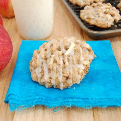 Apple cinnamon oatmeal cookies with apple cider glaze.... Seriously ...