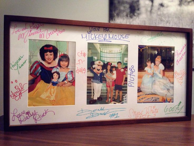 Disney Characters Autographed Photo Mat Disney Pinterest