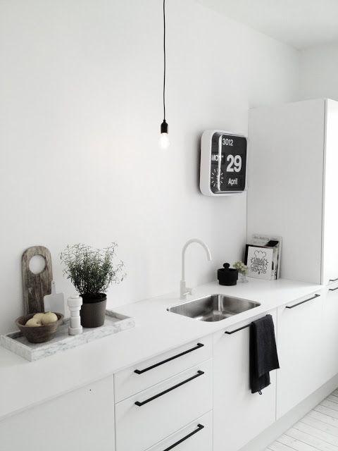 עיצוב מטבח בלבן