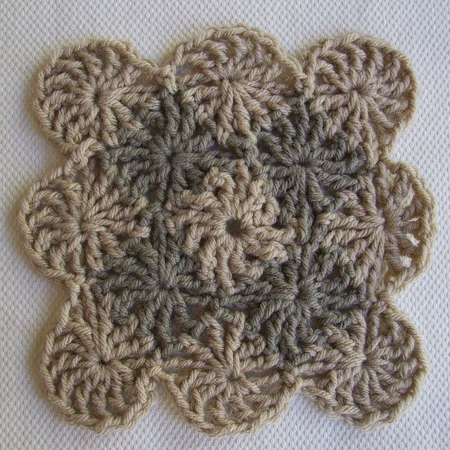 Wheel Stitch Block ~Tutorial { by CrochetDad}