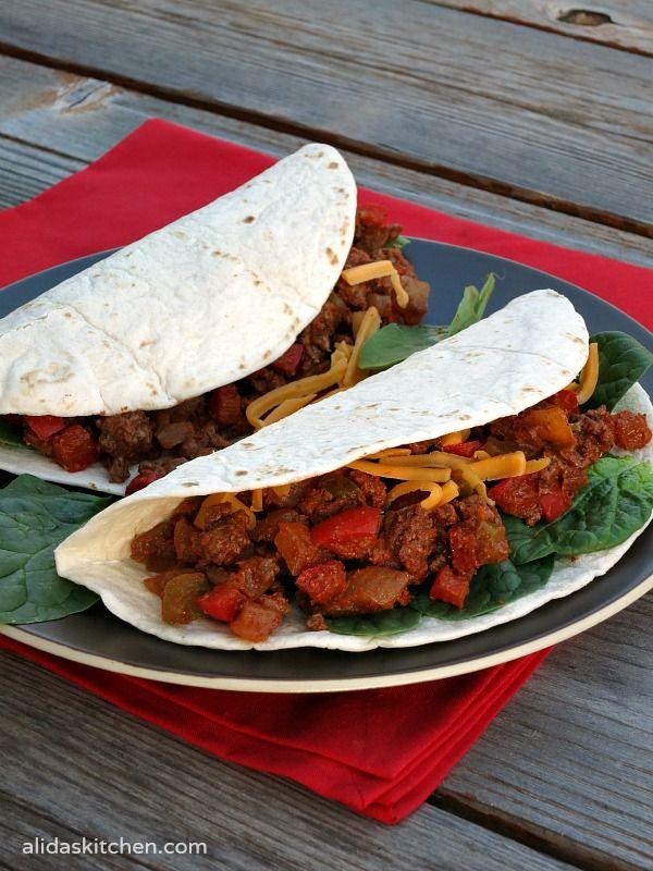 Lighter Chipotle Beef Tacos #SundaySupper #ChooseDreams - Alida's ...