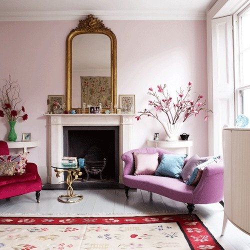living room pink walls paint color pinterest