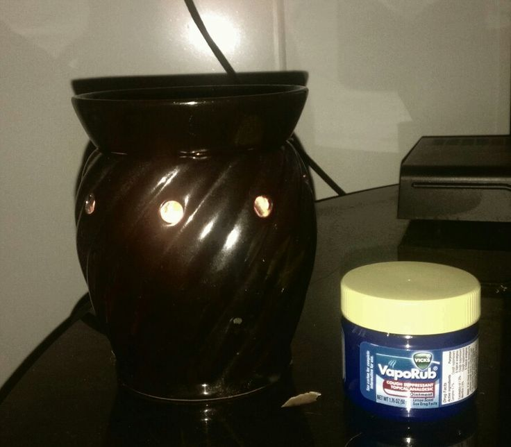 Feeling under the weather? Put a tablespoon of vicks and a tablespoon of water in a scentsy or wax warmer and let it melt and warm your sickness away.