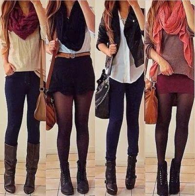 Модные шмотки на девушках на