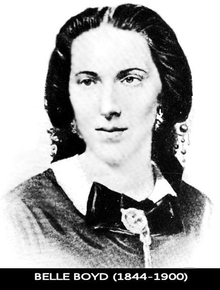 "Belle Boyd born May 9, 1844 was a Confederate spy. When Union soldiers came to the Boyd home to hoist a US flag in order to show solidarity Mary Boyd, Belle's mother spoke up stating, ""every member of my household will die before that flag will be raised over us"". A soldier addressed mother & daughter ""in a language as offensive as it is possible to concieve,"" the daughter later wrote ""I could stand it no longer..I drew out my gun & shot him."". This was only the beginning for Belle's spy career."