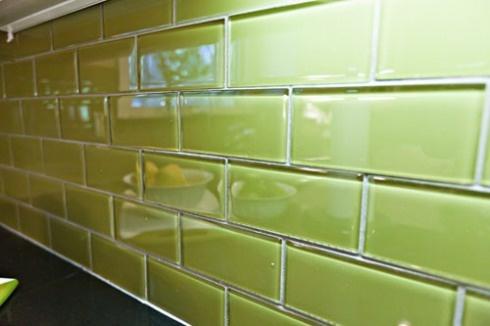 green glass backsplash blue green glass subway tile backsplash