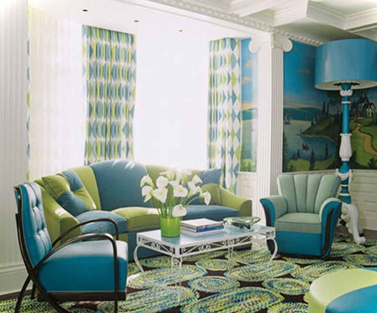 modern green and blue living room make my house a home pinterest