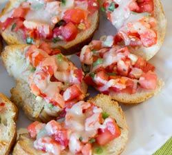 twist on Bruschetta using avocado | Appetizers | Pinterest
