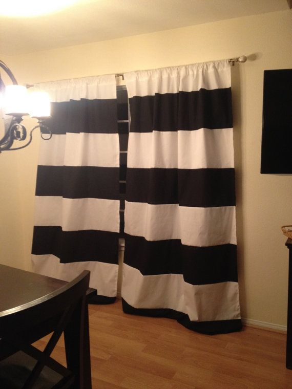 Curtains Ideas black and white striped curtains horizontal : Curtains Ideas : horizontal black and white striped curtains ...