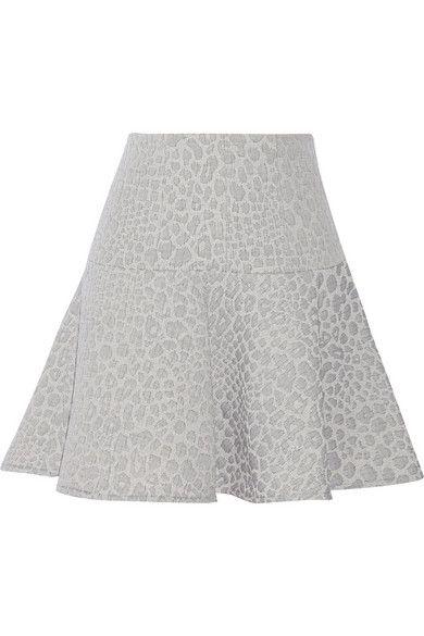 Shop now: Tibi leopard-jacquard mini skirt