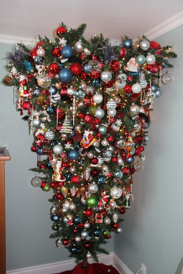 Upside Down Christmas Tree Holidays Pinterest