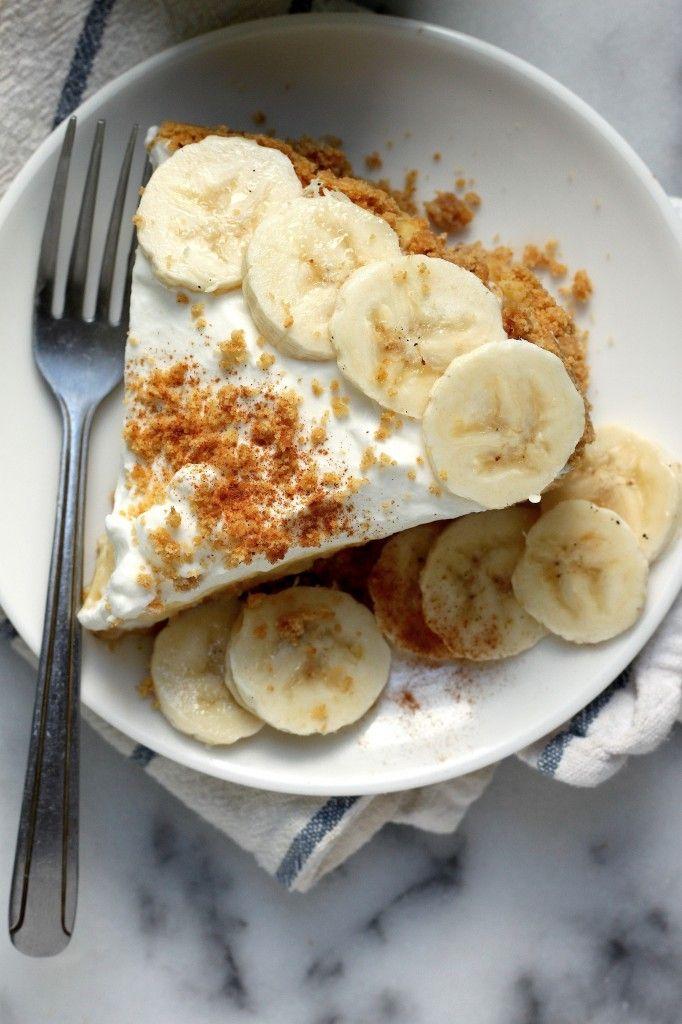 The Best Boozy Banana Cream Pie (with Bourbon Salted Caramel)