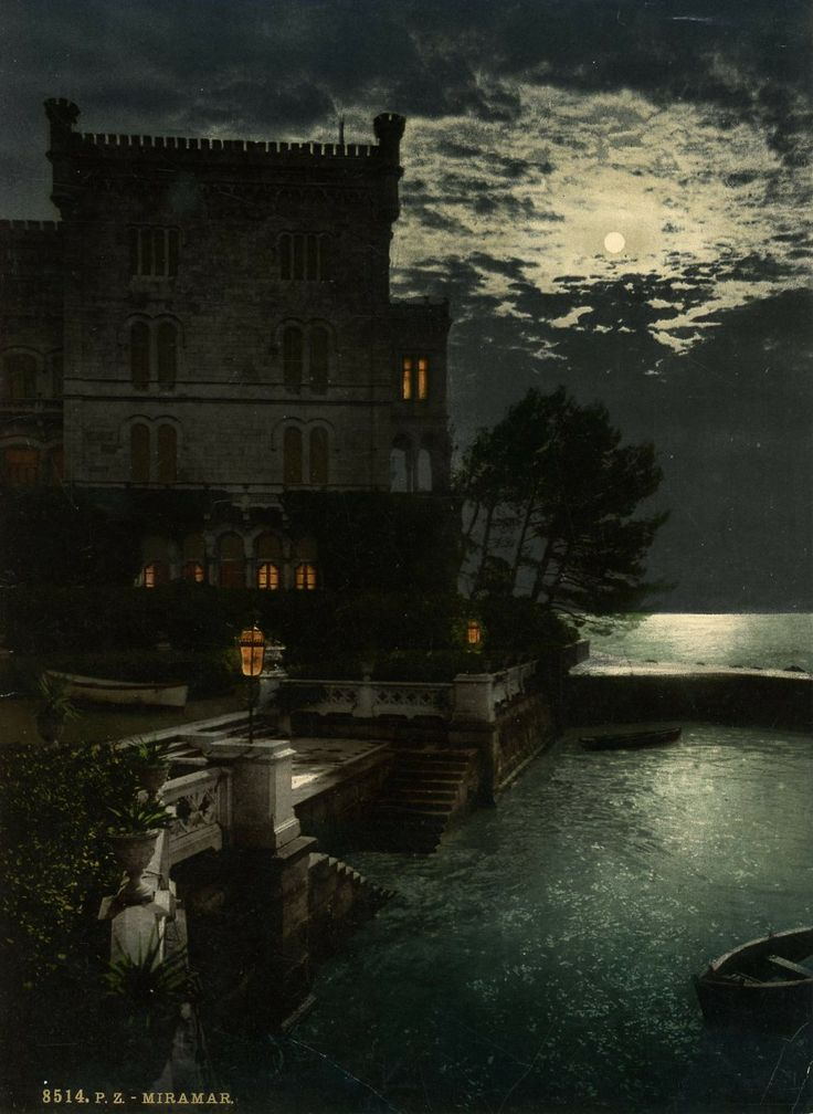 Miramare Castle, Trieste (Italy) - Photochrome, late 1890's