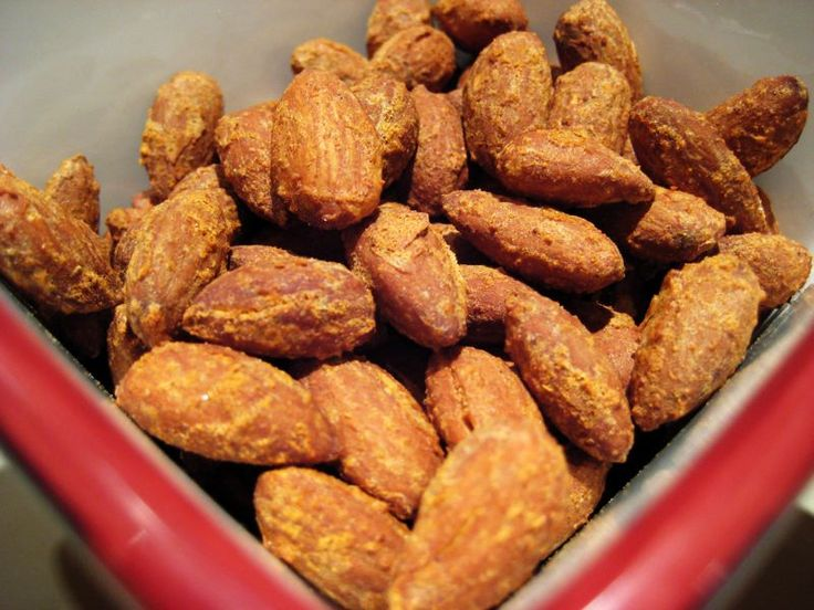 savory roasted almonds Eatingscd.com | SCD snacks | Pinterest