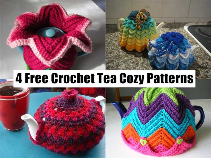 4 Free Crochet Tea Cozy Patterns Crochet & Knitting etc Pinterest