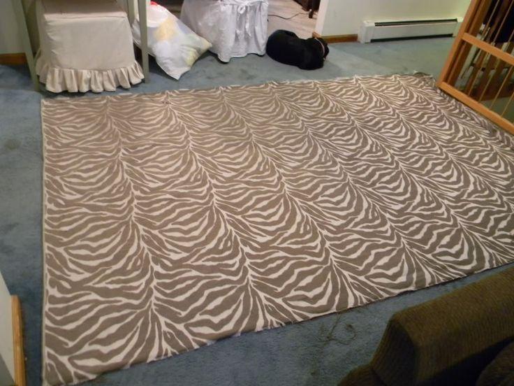 Fabric rug tutorial diy rugs pinterest for Diy fabric carpet