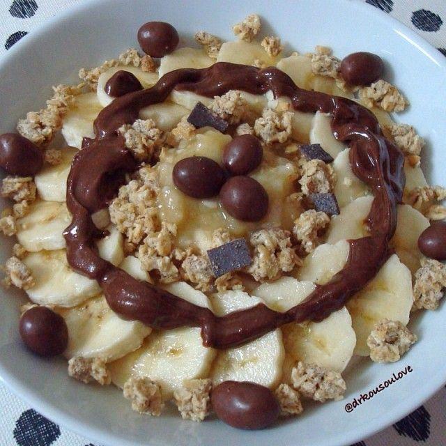 Yogurt, banana, granola & dark chocolate nut butter | health nut ...