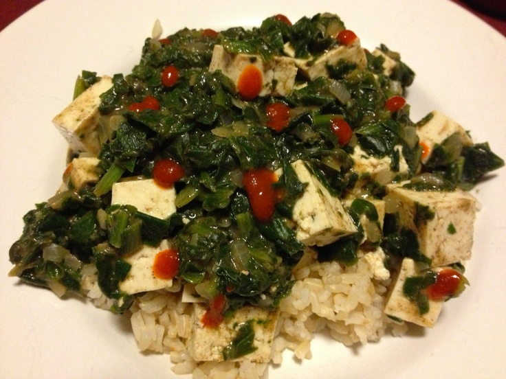 Tofu Saag with Brown Rice From: http://brunchforbitches.blogspot.com ...