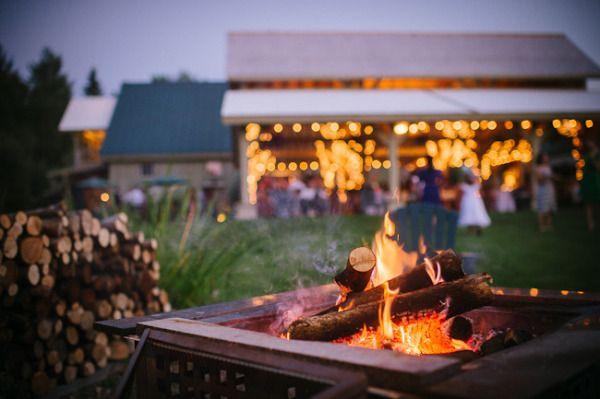 Backyard Bonfire Wedding : bonfire wedding  one sweet day  Pinterest