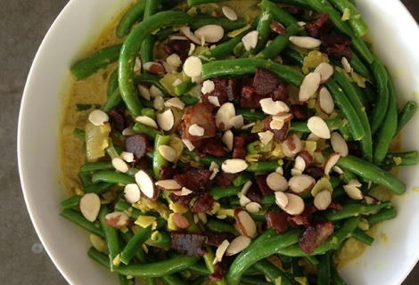 Paleo Curried Green Beans with Coconut | Food and Drink | Pinterest