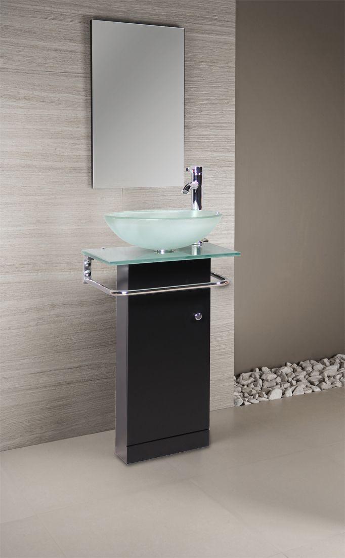 Un lavamanos muy minimalista