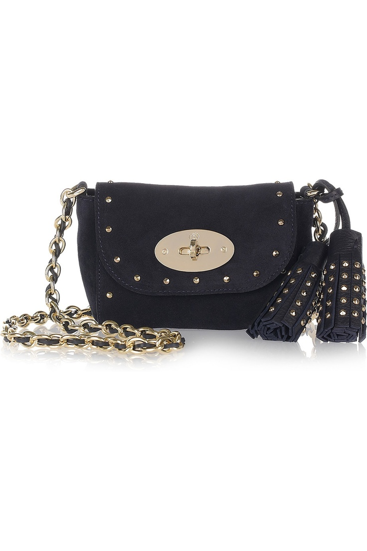 Mulberry Mini Lily Studded Suede Shoulder Bag 85