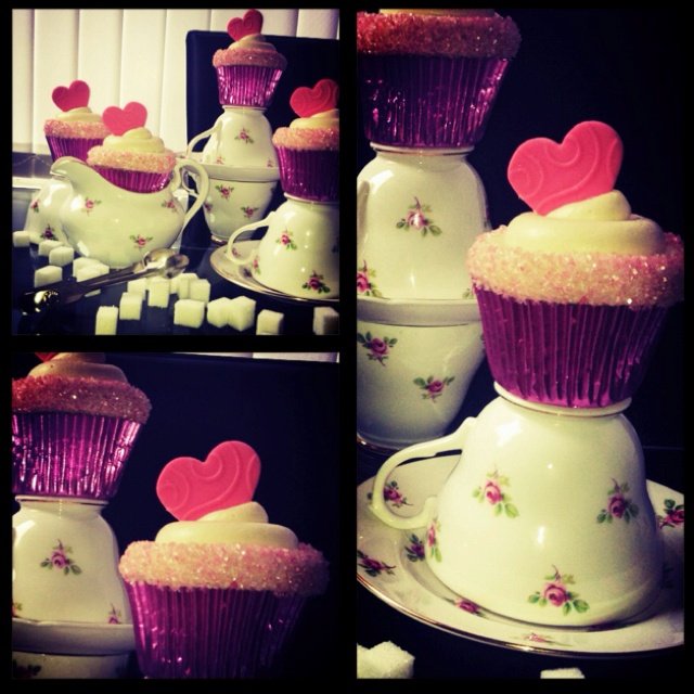Sweet heart cupcakes | Food | Pinterest