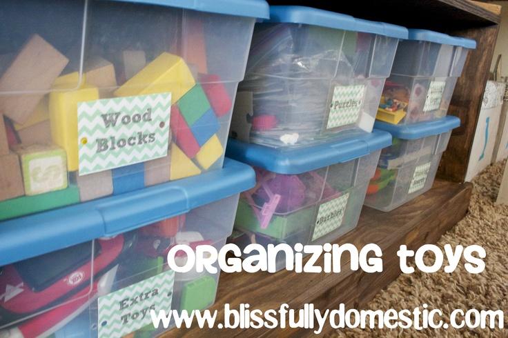 Easy toy storage solution plus Free printables!