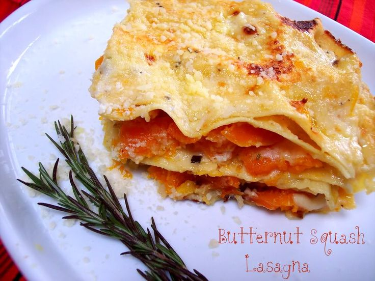 Butternut Squash Lasagna w/ Roasted Garlic and Rosemary (or sage ...