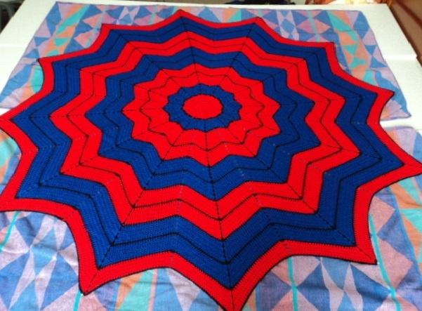 Crochet Pattern For Spiderman Blanket : blocking spiderman crocheted blanket Ties That Bind ...
