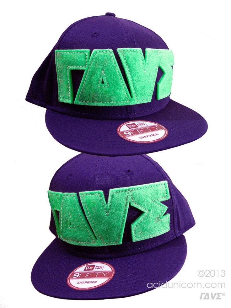 NewEra #Snapback #9FIFTY #purple #neon #green # V #acidunicorn