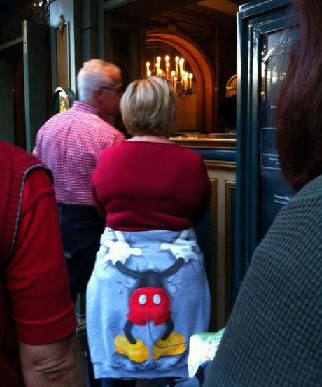 awkward....  We saw these sweat shirts all over Disneyland, but never on anyone butt!!