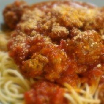 Italian Spaghetti Sauce with Meatballs   Food   Pinterest