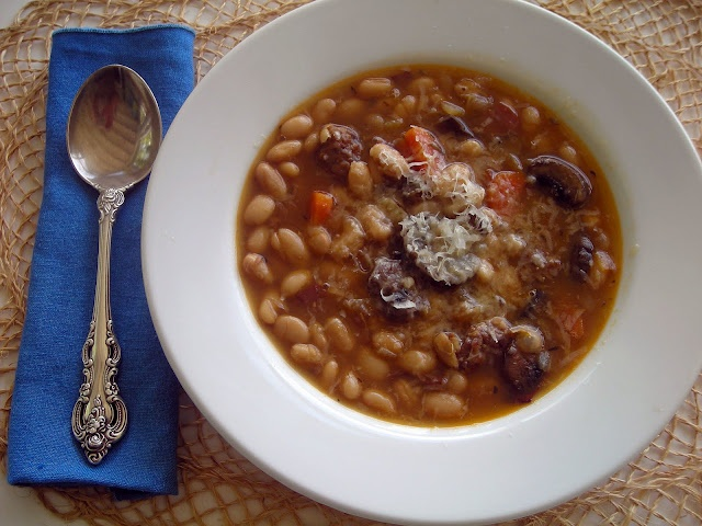 White bean and sausage soup. | Good Food | Pinterest
