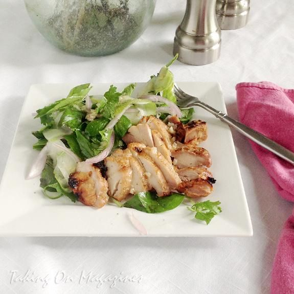 Chicken Recipes : Grilled Chicken Thighs with Thai Basil Salad