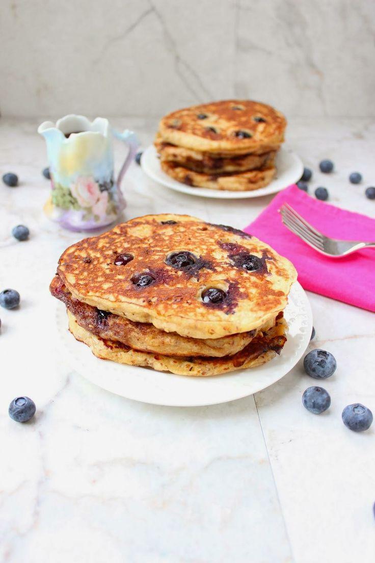 Blueberry Multi-Grain Yogurt Pancakes | Breakfast is for Champions ...