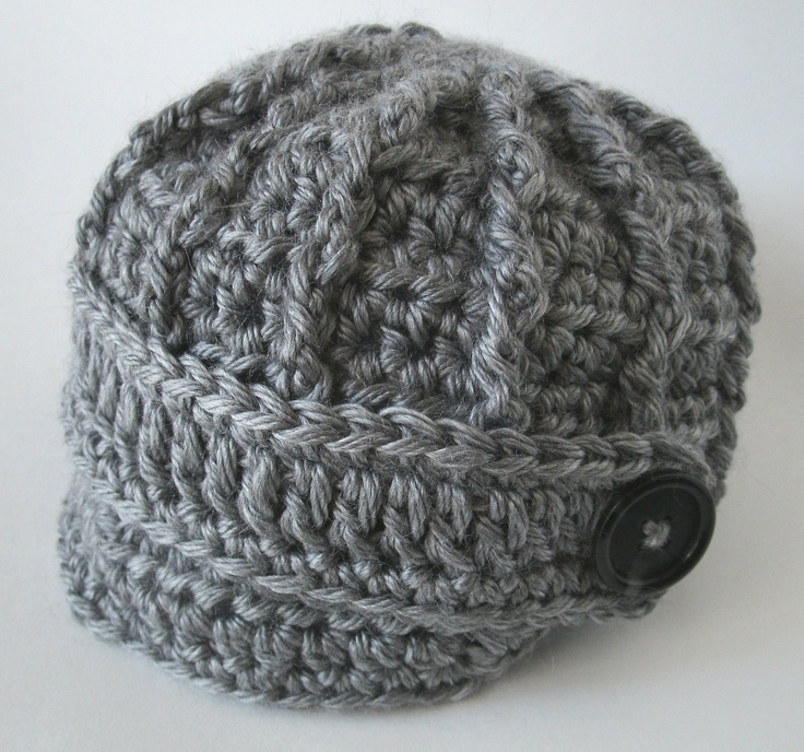 Crochet Baby Hat Pattern Newsboy : Crochet Newsboy Baby Hat - Ready to Ship