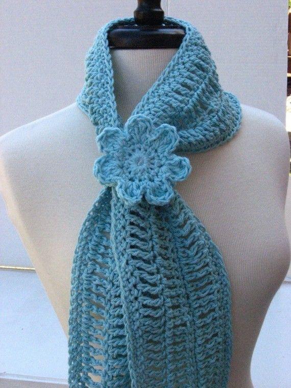 Summer Crochet Patterns : Summer Fashion Scarflet CROCHET PATTERN pdf by nutsaboutknitting
