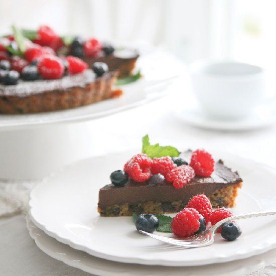 The best Chocolate Tart on earth with only 4 ingredients and done in ...