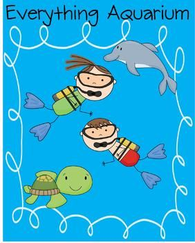 fun, aquarium themed packet that includes full lesson plans and ...
