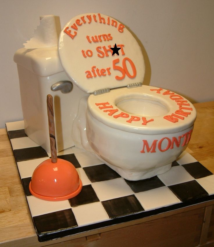 Toilet cake for 50th Birthday Cakes!! Pinterest